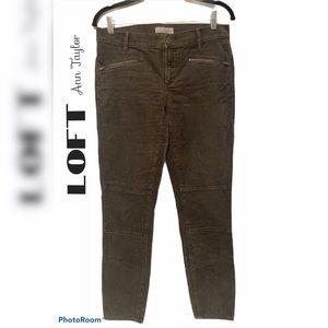LOFT charcoal gray skinny ankle corduroys pants 4